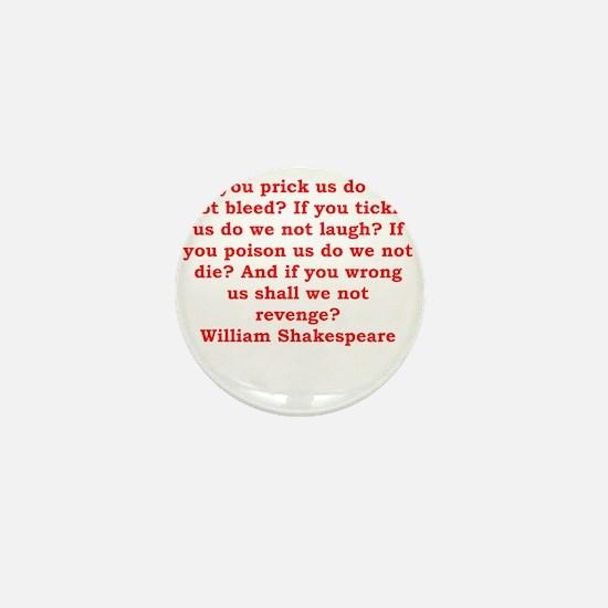 william shakespeare Mini Button