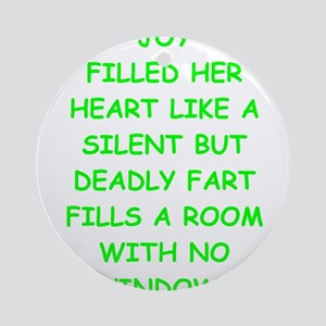 bad writing Ornament (Round)