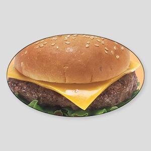 Burger Sticker (Oval)