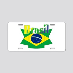 Brasil Ribbon Aluminum License Plate