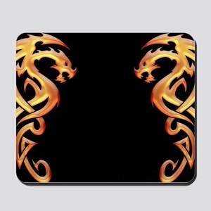 Twin Dragons Mousepad
