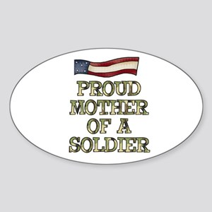 Mother of a Soldier Oval Sticker