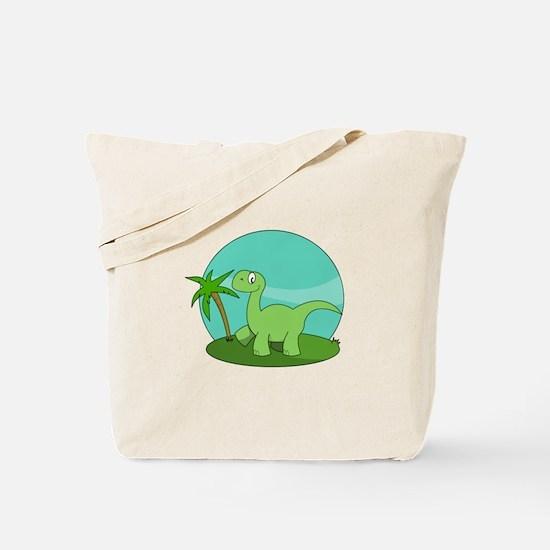 Cartoon Brontosaurus Tote Bag