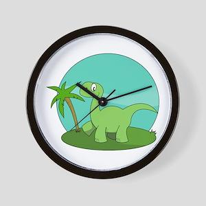 Cartoon Brontosaurus Wall Clock