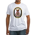 USS CURTIS WILBUR Fitted T-Shirt