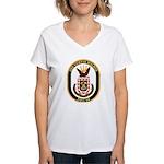 USS CURTIS WILBUR Women's V-Neck T-Shirt