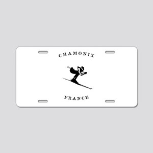Chamonix France Ski Aluminum License Plate