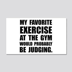 Favorite Exercise Judging Wall Decal
