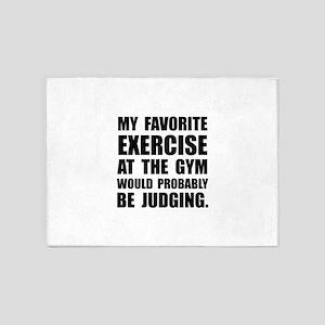 Favorite Exercise Judging 5'x7'Area Rug