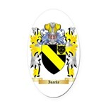 Isacke Oval Car Magnet