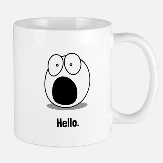 Hello Cartoon Mugs