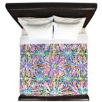 Pastel Bursts 1 King Duvet