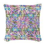 Pastel Bursts 1 Woven Throw Pillow