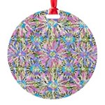Pastel Bursts 1 Round Ornament