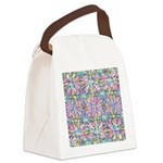 Pastel Bursts 1 Canvas Lunch Bag