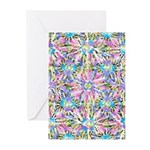Pastel Bursts 1 Greeting Cards (Pk of 10)