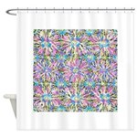 Pastel Bursts 1 Shower Curtain