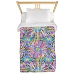 Pastel Bursts 1 Twin Duvet