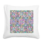 Pastel Bursts 1 Square Canvas Pillow
