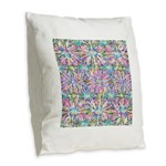 Pastel Bursts 1 Burlap Throw Pillow