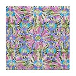 Pastel Bursts 1 Tile Coaster