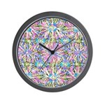 Pastel Bursts 1 Wall Clock