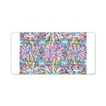 Pastel Bursts 1 Aluminum License Plate