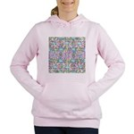 Pastel Bursts 1 Women's Hooded Sweatshirt