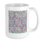 Pastel Bursts 1 Large Mug