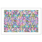 Pastel Bursts 1 Large Poster