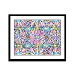 Pastel Bursts 1 Framed Panel Print