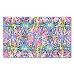 Pastel Bursts 1 Sticker (Rectangle)