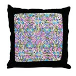 Pastel Bursts 1 Throw Pillow