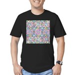 Pastel Bursts 1 Men's Fitted T-Shirt (dark)