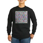 Pastel Bursts 1 Long Sleeve Dark T-Shirt