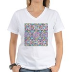 Pastel Bursts 1 Women's V-Neck T-Shirt