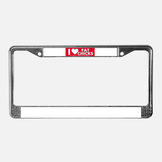 Unique I love korean girls License Plate Frame