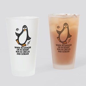 When in Danger or in Doubt Funny Pe Drinking Glass