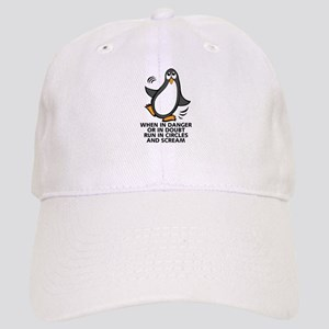 When in Danger or in Doubt Funny Penguin Graph Cap