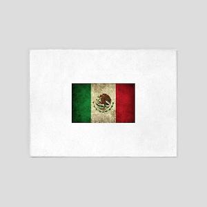 Mexican Flag 5'x7'Area Rug