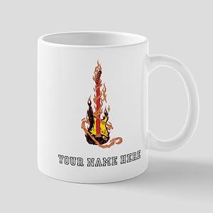Custom Flaming Guitar Mugs