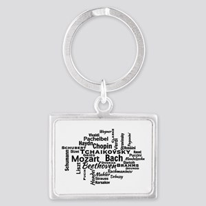 Classical Composers Word Cloud Keychains