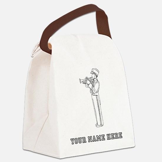 Custom Trumpet Player Canvas Lunch Bag