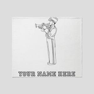Custom Trumpet Player Throw Blanket