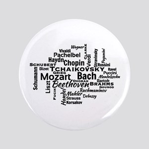 "Classical Composers Word Cloud 3.5"" Button"