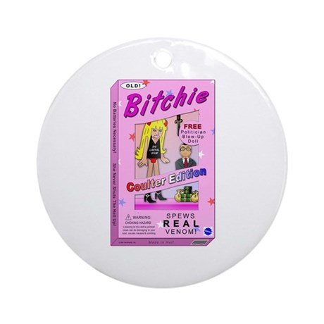 Coulter Bitchie Doll Ornament (Round)
