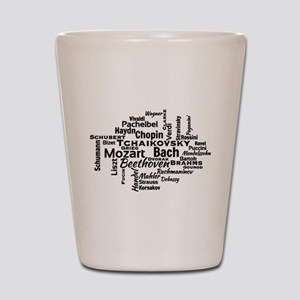 Classical Composers Word Cloud Shot Glass