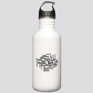 Classical Composers Word Cloud Water Bottle