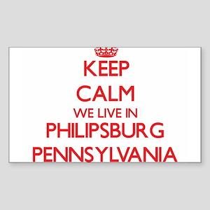 Keep calm we live in Philipsburg Pennsylva Sticker