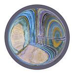 Spiritual Pane Round Car Magnet